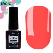 Гель-лак Kira Nails 016 очень яркий малиновый 6 мл