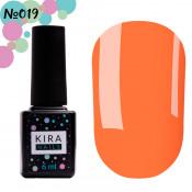 Гель-лак Kira Nails 019 морковный, неоновый 6 мл