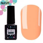 Гель-лак Kira Nails 020 розово-персиковый, неоновый 6 мл