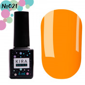 Гель-лак Kira Nails 021 оранжевый 6 мл