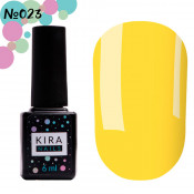 Гель-лак Kira Nails 023 солнечно-желтый 6 мл