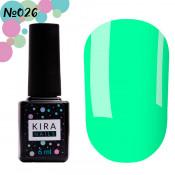 Гель-лак Kira Nails 026 светлый бирюзовый 6 мл