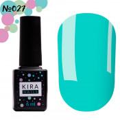 Гель-лак Kira Nails 027 голубой 6 мл