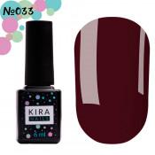 Гель-лак Kira Nails 033 бургунди 6 мл