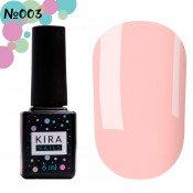 Гель-лак Kira Nails 003 светлый розовый для френч 6 мл
