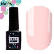 Гель-лак Kira Nails 004 розовый камуфляж для френча 6 мл