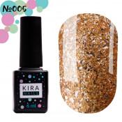 Гель-лак Kira Nails Shine Bright 005 золотистый с блестками 6 мл