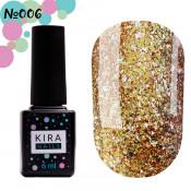 Гель-лак Kira Nails Shine Bright 006 бронзовый с блестками 6 мл
