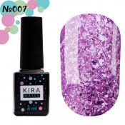 Гель-лак Kira Nails Shine Bright 007 светло-фиолетовый с блёстками 6 мл