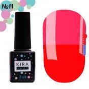 Гель-лак Kira Nails T11 красный, при нагревании ярко-розовый 6 мл