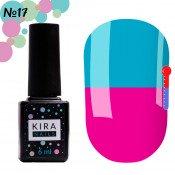 Гель-лак Kira Nails T17 яркий фиолетовый, при нагревании голубой 6 мл