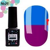 Гель-лак Kira Nails T20 насыщенный фиолетовый, при нагревании яркий голубой 6 мл