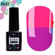Гель-лак Kira Nails T21 светло-фиолетовый, при нагревании розовый 6 мл