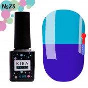 Гель-лак Kira Nails T23 светло-синий, при нагревании бледно-голубой 6 мл