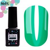 Гель-лак Kira Nails Vitrage V05 зеленый витражный 6 мл