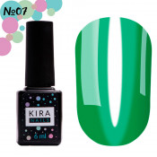 Гель-лак Kira Nails Vitrage V07 витражный тёмный зелёный 6 мл