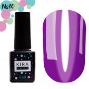 Гель-лак Kira Nails Vitrage V10 тёмный фиолетовый витражный 6 мл