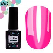 Гель-лак Kira Nails Vitrage V12 розовый кислотный витражный 6 мл