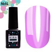 Гель-лак Kira Nails Vitrage V14 прозрачно-фиолетовый витражный 6 мл