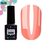 Гель-лак Kira Nails Vitrage V16 прозрачно-розовый витражный 6 мл