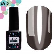 Гель-лак Kira Nails Vitrage V18 черный витражный 6 мл