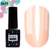 Гель-лак Kira Nails Vitrage V19 персиковый витражный 6 мл