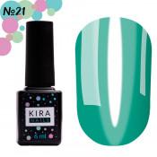 Гель-лак Kira Nails Vitrage V21 морская волна витражный 6 мл