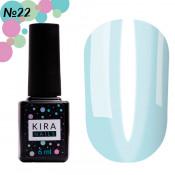Гель-лак Kira Nails Vitrage V22 нежно-голубой витражный 6 мл