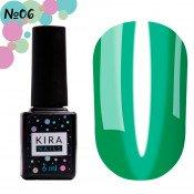 Гель-лак Kira Nails Vitrage V06 зелёнка, витражный 6 мл