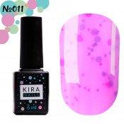Гель-лак Kira Nails Yoghurt Boom! 011 клубничный мусс с неоновыми блестками, йогурт 6 мл