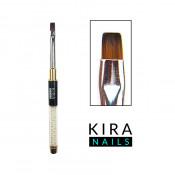 Кисть для геля Kira Nails Gel flat 4 (Nylon)