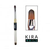 Кисть для геля Kira Nails Gel oval 8 (Nylon)