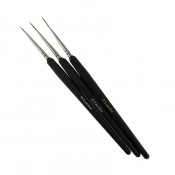 Набор кистей для дизайна G.Lacolor с черной ручкой (3 шт.)
