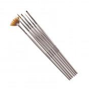 Набор кистей для дизайна и наращивания G.Lacolor с серой ручкой (6 шт.)