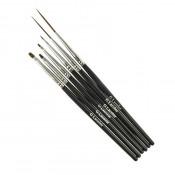 Набор кистей для дизайна и китайской росписи G.Lacolor с черной ручкой (6 шт.)