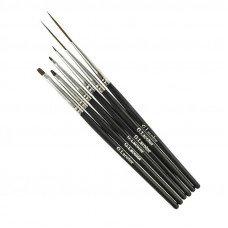 Набор кистей для дизайна и китайской росписи G.Lacolor с черной ручкой (6 шт.) синтетика