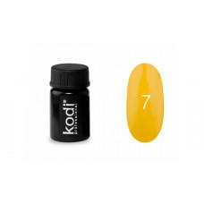 Гель-краска Kodi (Коди) 07 классического жёлтого цвета.