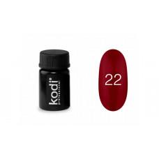 Гель-краска Kodi (Коди) 22 насыщенная красная тёмная.