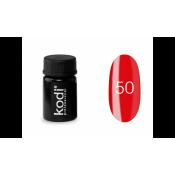 Гель-краска Kodi-50 красная c бордовым оттенком 4 мл