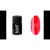 Гель-краска Kodi-59 карминовая красная 4 мл