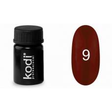 Гель-краска Kodi (Коди) 09 бордовый перламутровый.