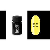 Гель-краска Kodi-55 ярко-жёлтый 4 мл