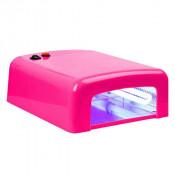 УФ лампа для маникюра JD 818 36 Вт ярко-розовая