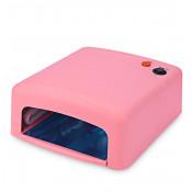 УФ лампа для маникюра JD 818 36 Вт розовая