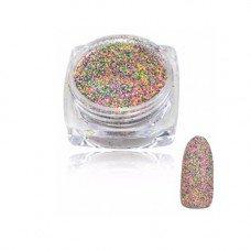 Салатово-розовый с зеленым меланж для ногтей 32, 2 г