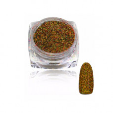 Черно-салатовый с оранжевым меланж для ногтей 36, 2 г