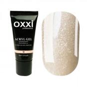 Акригель Oxxi 12 кремовый с микроблеском 30 мл