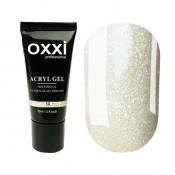 Акригель Oxxi 13 светлый кремовый с микроблеском 30 мл