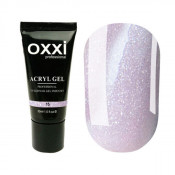 Акригель Oxxi 15 холодный розовый с микроблеском 30 мл