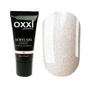 Акригель Oxxi 11 светло-розовый с микроблеском 30 мл